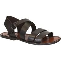 Schoenen Heren Sandalen / Open schoenen Gianluca - L'artigiano Del Cuoio 508 U MORO CUOIO Testa di Moro