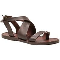 Schoenen Dames Sandalen / Open schoenen Gianluca - L'artigiano Del Cuoio 571 D MORO CUOIO Testa di Moro