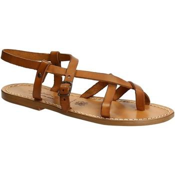Schoenen Dames Sandalen / Open schoenen Gianluca - L'artigiano Del Cuoio 530 D CUOIO CUOIO Cuoio