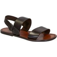 Schoenen Heren Sandalen / Open schoenen Gianluca - L'artigiano Del Cuoio 500 U MORO CUOIO Testa di Moro