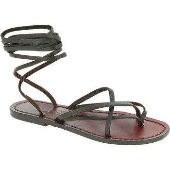 Schoenen Dames Sandalen / Open schoenen Gianluca - L'artigiano Del Cuoio 514 D MORO CUOIO Testa di Moro