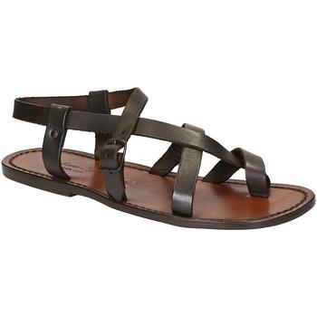 Schoenen Heren Sandalen / Open schoenen Gianluca - L'artigiano Del Cuoio 530 U MORO CUOIO Testa di Moro
