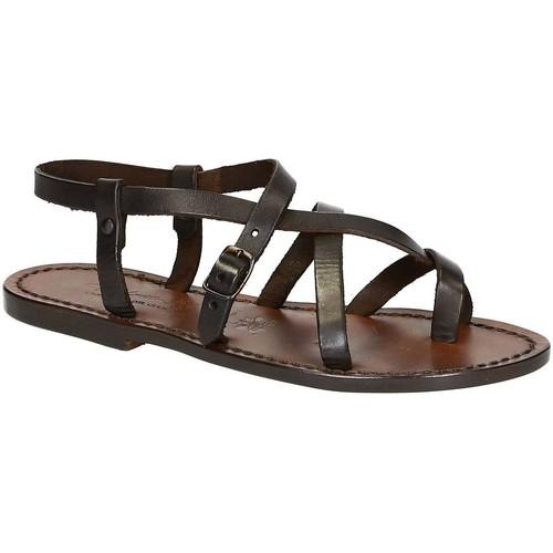 Schoenen Dames Sandalen / Open schoenen Gianluca - L'artigiano Del Cuoio 530 D MORO CUOIO Testa di Moro