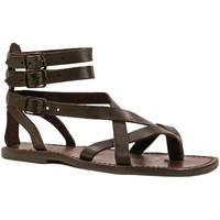 Schoenen Heren Sandalen / Open schoenen Gianluca - L'artigiano Del Cuoio 564 U MORO CUOIO Testa di Moro