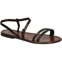 Schoenen Dames Sandalen / Open schoenen Gianluca - L'artigiano Del Cuoio 591 D MORO CUOIO Testa di Moro