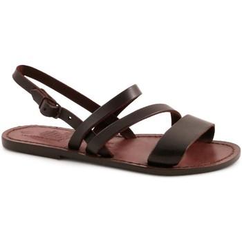 Schoenen Dames Sandalen / Open schoenen Gianluca - L'artigiano Del Cuoio 598 D MORO CUOIO Testa di Moro
