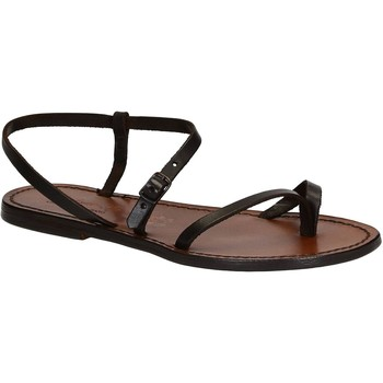 Schoenen Dames Sandalen / Open schoenen Gianluca - L'artigiano Del Cuoio 590 D MORO CUOIO Testa di Moro