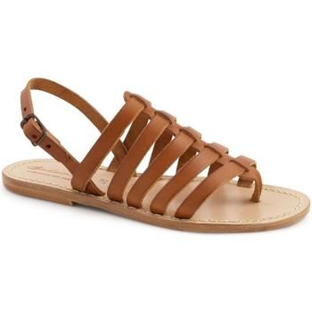 Schoenen Dames Sandalen / Open schoenen Gianluca - L'artigiano Del Cuoio 576 D CUOIO LGT-CUOIO Cuoio
