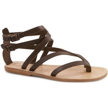 Schoenen Dames Sandalen / Open schoenen Gianluca - L'artigiano Del Cuoio 574 D MORO LGT-CUOIO Testa di Moro