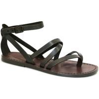 Schoenen Dames Sandalen / Open schoenen Gianluca - L'artigiano Del Cuoio 584 D MORO CUOIO Testa di Moro