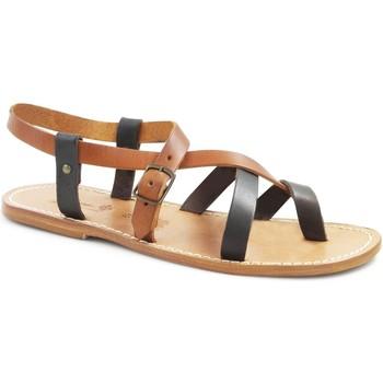 Schoenen Dames Sandalen / Open schoenen Gianluca - L'artigiano Del Cuoio 530 U MORO-CUOIO LGT-CUOIO Testa di Moro