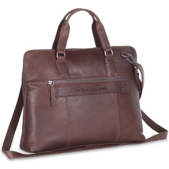 Tassen Dames Computertassen Chesterfield Leren Laptoptas 15 inch Hana Bruin