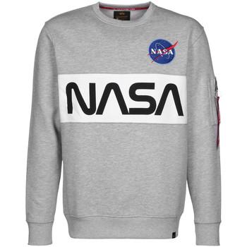 Textiel Heren Sweaters / Sweatshirts Alpha NASA Inlay Sweater Grijs