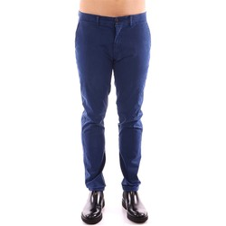 Textiel Heren Chino's Harmont & Blaine CHINOS NARROW Broek Mens Blauw Blauw