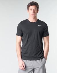 Textiel Heren T-shirts korte mouwen Nike M NK DRY TEE DFC CREW SOLID Zwart / Wit
