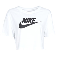 Textiel Dames T-shirts korte mouwen Nike W NSW TEE ESSNTL CRP ICN FTR Wit / Zwart