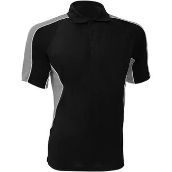 Textiel Heren Polo's korte mouwen Gamegear KK938 Zwart/Grijs