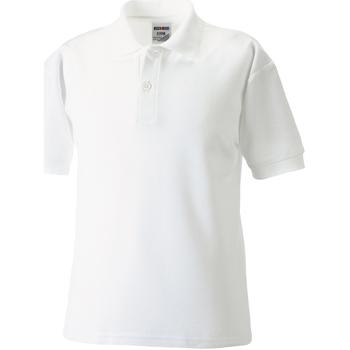 Textiel Jongens Polo's korte mouwen Jerzees Schoolgear 65/35 Wit