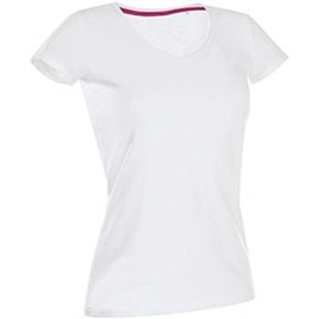 Textiel Dames T-shirts korte mouwen Stedman Stars Claire Wit