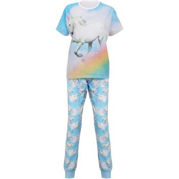 Textiel Dames Pyjama's / nachthemden Christmas Shop Unicorn Lichtblauwe Eenhoorn