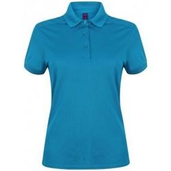Textiel Dames Polo's korte mouwen Henbury HB461 Saffier