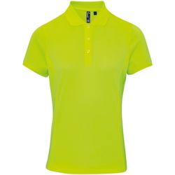 Textiel Dames Polo's korte mouwen Premier PR616 Neon geel