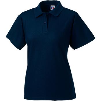 Textiel Dames Polo's korte mouwen Jerzees Colours 539F Franse marine