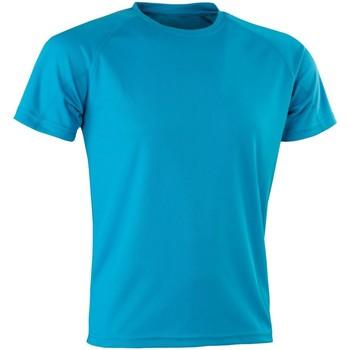 Textiel Heren T-shirts korte mouwen Spiro Aircool Oceaan Blauw