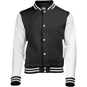 Textiel Kinderen Wind jackets Awdis JH43J Jet Zwart/Wit