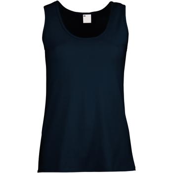 Textiel Dames Mouwloze tops Universal Textiles Fitted Middernacht blauw