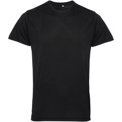 Textiel Heren T-shirts korte mouwen Tridri TR010 Zwart