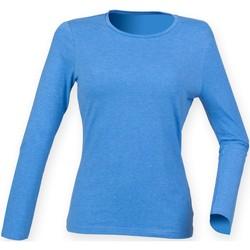 Textiel Dames T-shirts met lange mouwen Skinni Fit SK124 Heideblauw