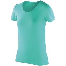 Textiel Dames T-shirts korte mouwen Spiro SR280F Pepermunt