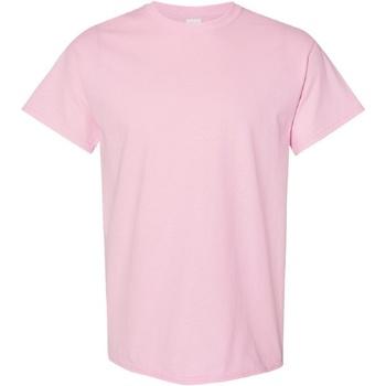 Textiel Heren T-shirts korte mouwen Gildan Heavy Lichtroze