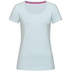 Textiel Dames T-shirts korte mouwen Stedman Stars  Poederblauw