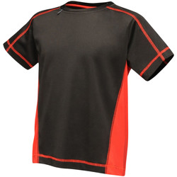 Textiel Kinderen T-shirts korte mouwen Regatta RA001B Zwart/Klassiek Rood