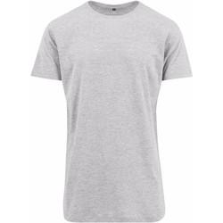 Textiel Heren T-shirts korte mouwen Build Your Brand Shaped Heide Grijs