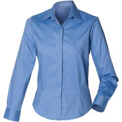 Textiel Dames Overhemden Henbury HB551 Bedrijfsblauw