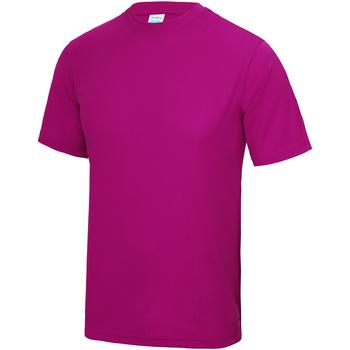 Textiel Kinderen T-shirts korte mouwen Awdis JC01J Heet Roze