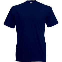 Textiel Heren T-shirts korte mouwen Universal Textiles 61036 Middernacht blauw