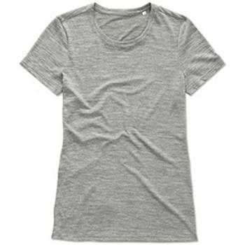 Textiel Dames T-shirts korte mouwen Stedman  Grijs
