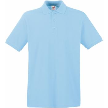 Textiel Heren Polo's korte mouwen Fruit Of The Loom 63218 Hemel Blauw