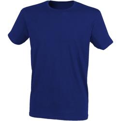 Textiel Heren T-shirts korte mouwen Skinni Fit SF121 Heide-Marine