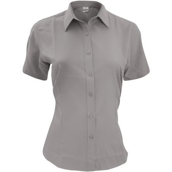 Textiel Heren Overhemden korte mouwen Henbury HB596 Leisteengrijs