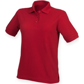 Textiel Dames Polo's korte mouwen Henbury HB401 Vintage Rood