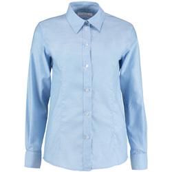 Textiel Dames Overhemden Kustom Kit KK361 Lichtblauw