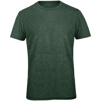 Textiel Heren T-shirts korte mouwen B And C TM055 Heide Bos Groen