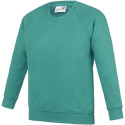Textiel Kinderen Sweaters / Sweatshirts Awdis  Groen