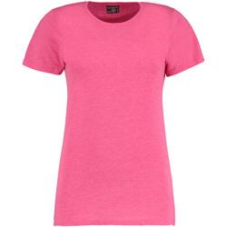 Textiel Dames T-shirts korte mouwen Kustom Kit Superwash Roze Mergel