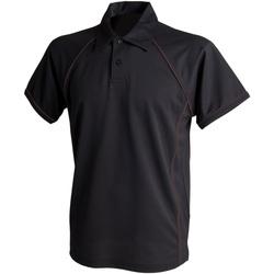 Textiel Heren Polo's korte mouwen Finden & Hales Piped Zwart/Zwart